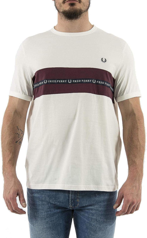 Fred Perry - Camiseta Hombre Manga Corta 4213 129 - L, Blanco ...