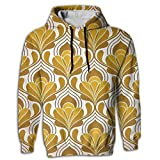Yoizora Turquoise Lotus Men's Printed Hip Hop Hoodie Sweat Shirt Fashion Sweater For Youth Jogger Hoody Pocket In Front With Hat