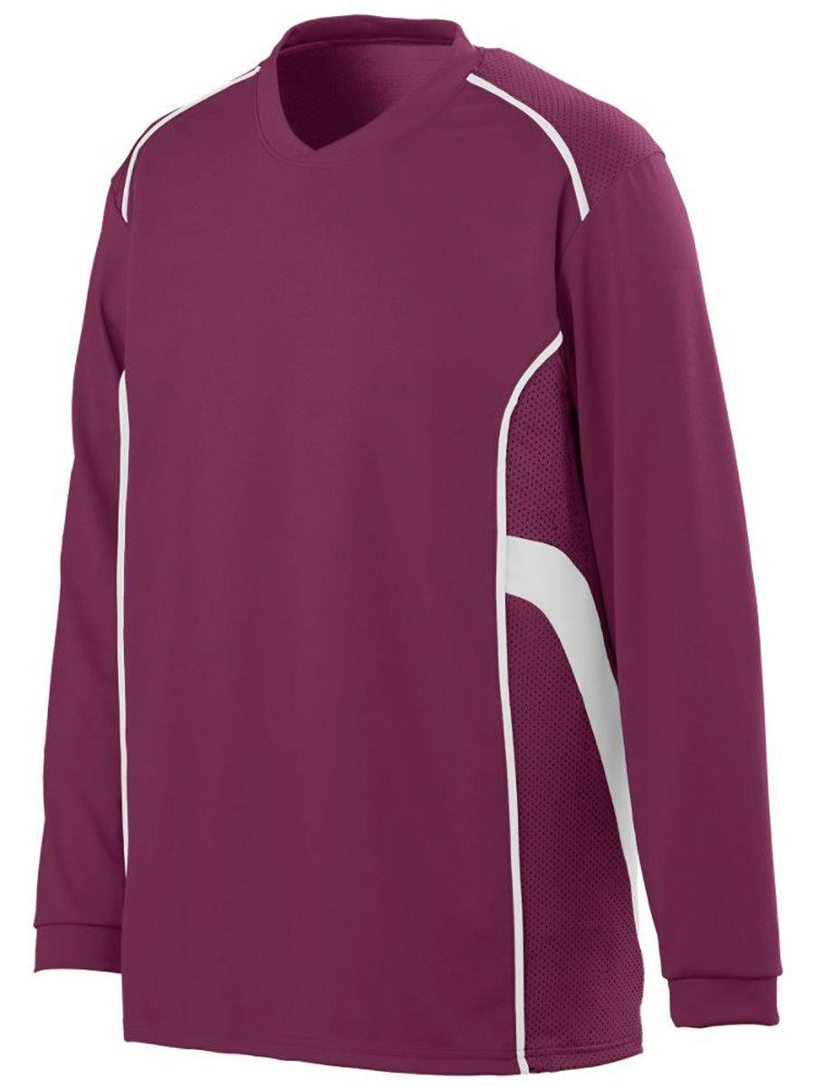 AugustaメンズWinning Streak Long Sleeve Jersey B00HU3YUII XXX-Large|マルーン/ホワイト マルーン/ホワイト XXX-Large