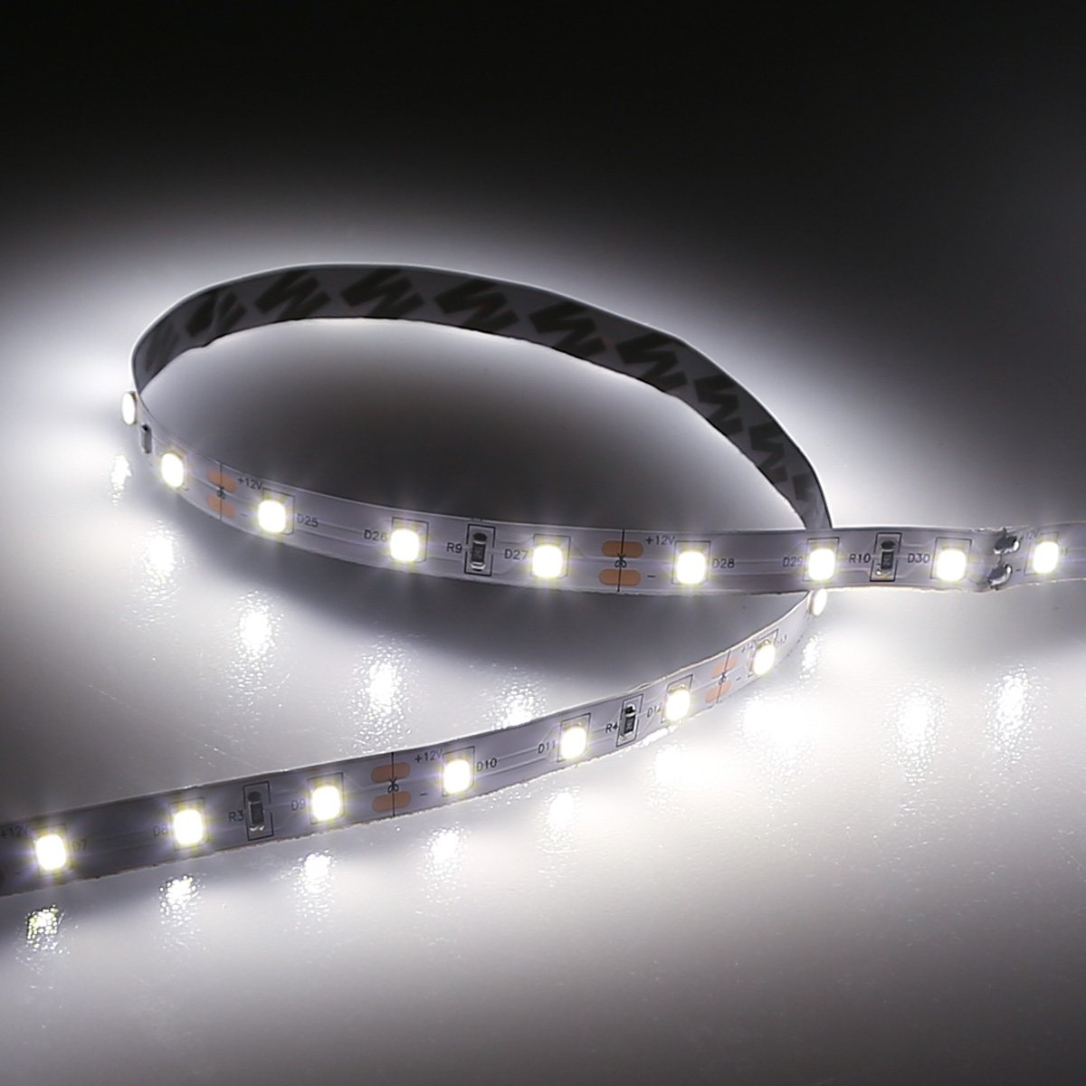 Amazon le 2 pack 164ft flexible led light strip 300 units smd amazon le 2 pack 164ft flexible led light strip 300 units smd 2835 led12v dc 5000k daylight white non waterproof led tape led ribbon aloadofball Images