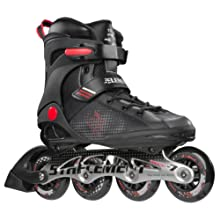 5th Element Stealth 84 Mens Performance Fitness Inline Skates, Black and Red - 11.0