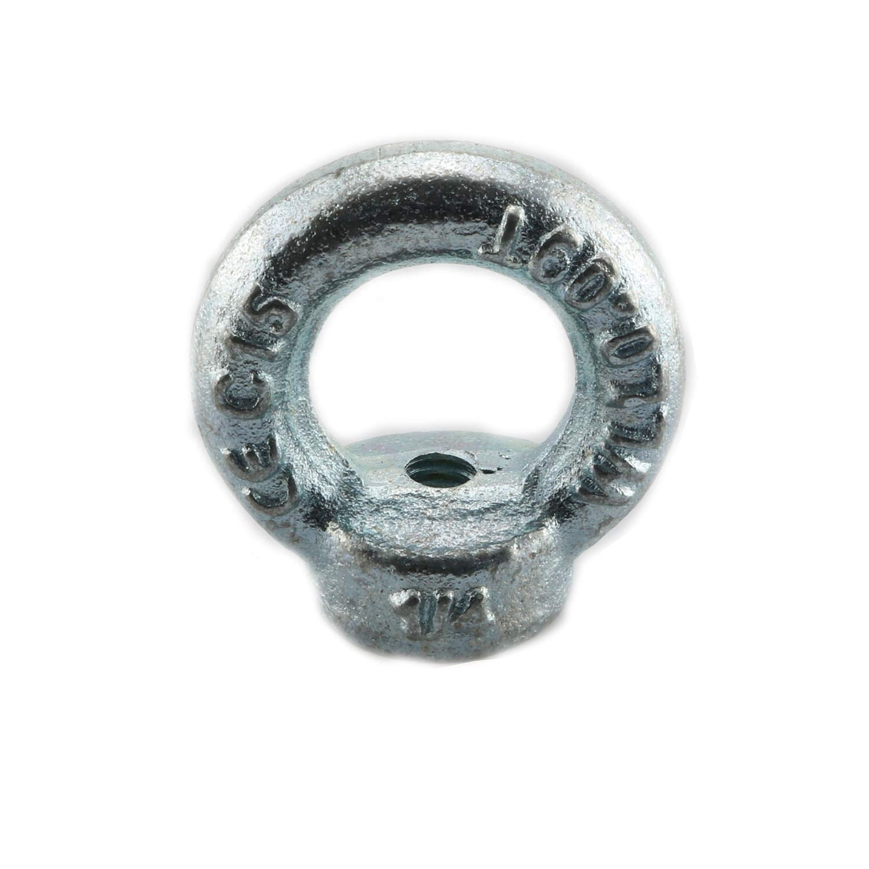 Pro Bamboo Kitchen 4pcs Carbon Steel Q235 Lifting Eye Nut 1//4-20 3//8-16 Galvanized Iron