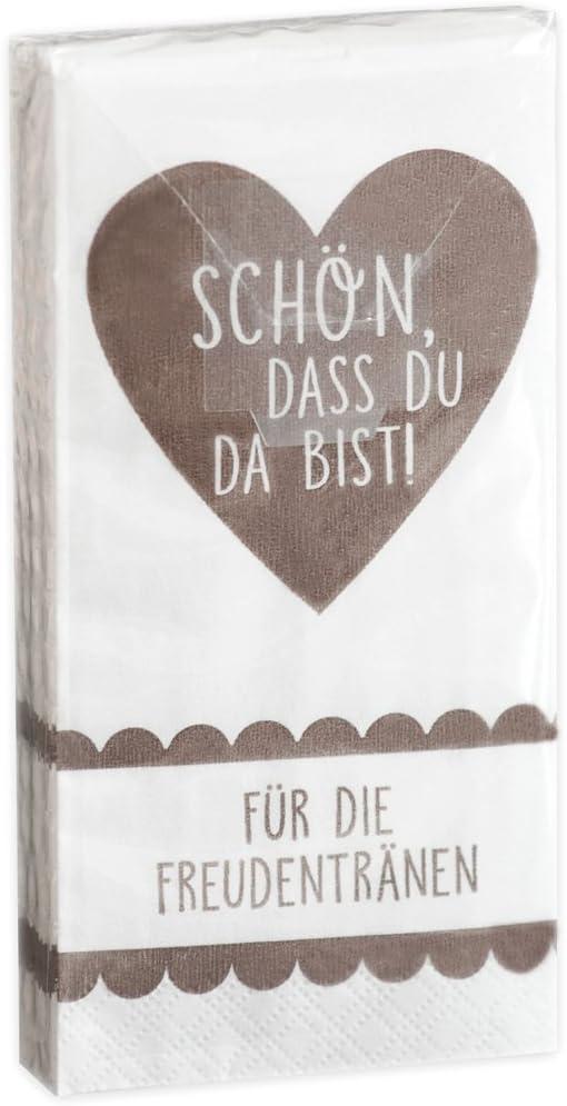Taschentücher /'Für die Freudentränen/' Hochzeit Taufe Kommunion 10 x 10 Stk