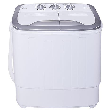 Mini lavadora de 3,6 kg semiautomática, doble función a elección ...