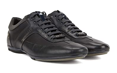 27c7194302b BOSS HUGO pour hommes MERCEDES-BENZ Baskets Low-Top chaussures bleu foncé -
