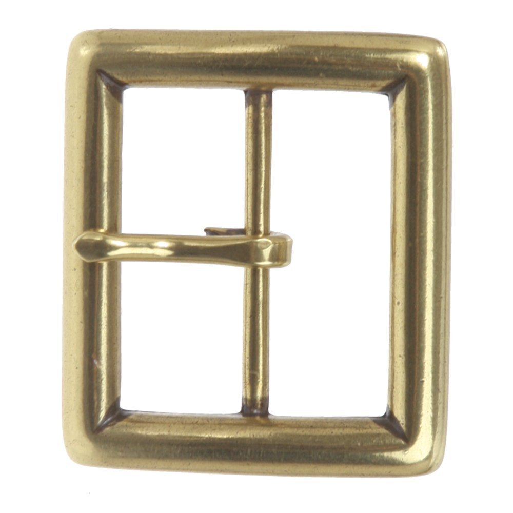 BBBelts Men Single Prong Brass No Nickel Square Shaped Buckle For 1-5//8 Belts