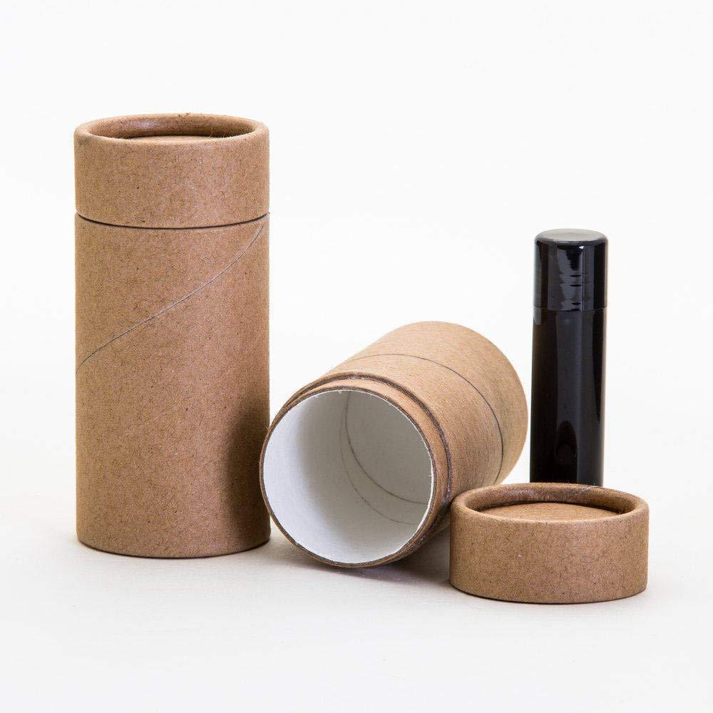 70mL / 2.37oz Kraft Paperboard Deodorant Tubes (100) by KJ's Krafts