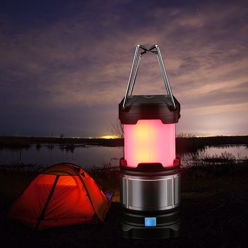 eecoo Camping Lantern, Water Resistant 4 Brightness Modes LED Light, Outdoor Emergency Camp Lamp with USB Port & Hook, Perfect Lantern for Hiking, Camping, Emergencies, Hurricanes, Outages by eecoo (Image #2)
