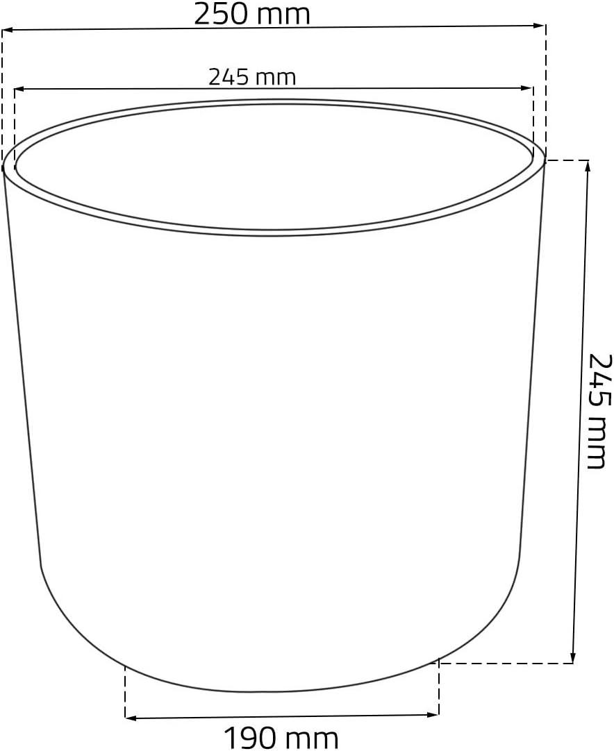 Kunststoff Blumentopf D 25 cm pistazie Blumenk/übel rund Matt Aruba /Übertopf