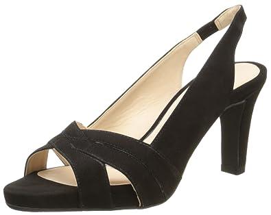 Tahara, Sandales Femme, Noir (Chevre Velours Noir), 37 EUJB Martin