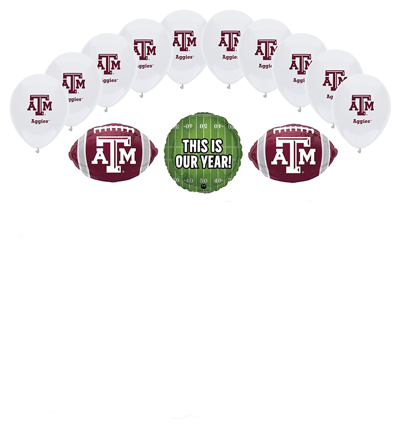 Mayflower Products Texas A/&M Aggies Football Tailgating Party Supplies Balloon Bouquet Decorations