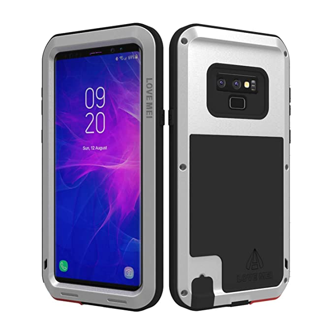 watch 7e161 33db5 LOVE MEI Powerful Series for Samsung Galaxy Note 9 Case Shockproof,  [Without Screen Protector] Combo Metal and Silicone Heavy Duty Full Body ...