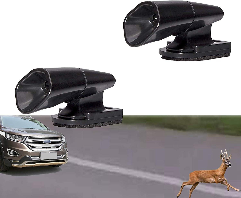 ACAMPTAR 2 Pcs Deer Alert For Vehicles,Black Deer Whistles Deer Warning Devices For Car Auto Motorcycle Truck Suv And Atv