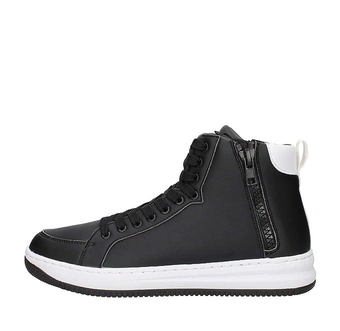 Emporio Armani - Zapatillas de Cuero para Hombre Negro Size: 40 EU: Amazon.es: Zapatos y complementos