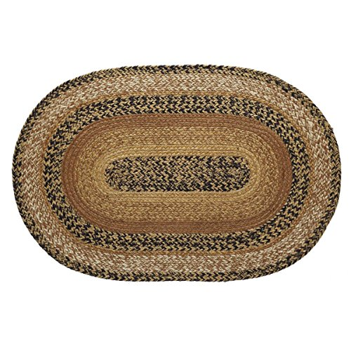 Oval Rugs Small (VHC Brands 10111 Primitive Flooring Prim Grove Jute Oval 20x30 Rug, Plain)