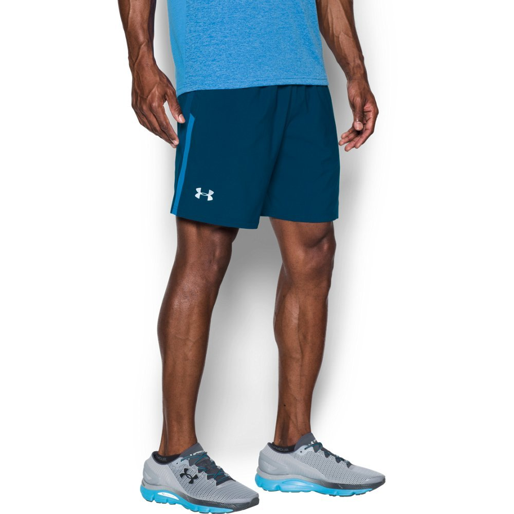 b5edf46202 Galleon - Under Armour Men's Launch 7'' Shorts, Blackout Navy /Reflective,  Large