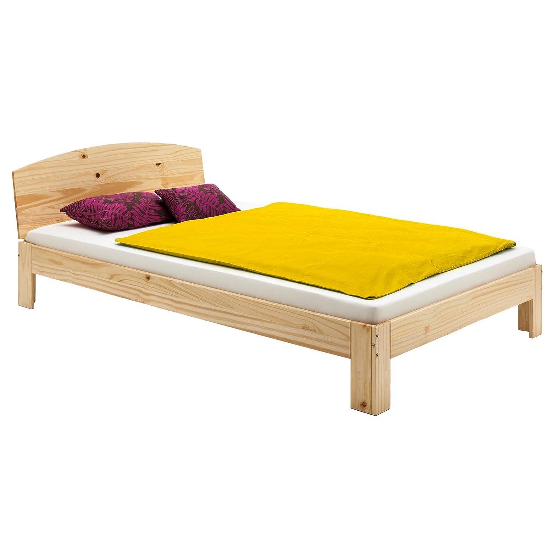 IDIMEX Holzbett Einzelbett Bett Tim Kiefer massiv Natur Natur Natur lackiert 100 x 200 cm (B x L) b81a44