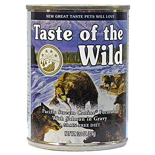 Taste of the Wild Canned Dog Food for All Lifestages,Pacific Stream Canine with Smoked Salmon Formula pk of 12