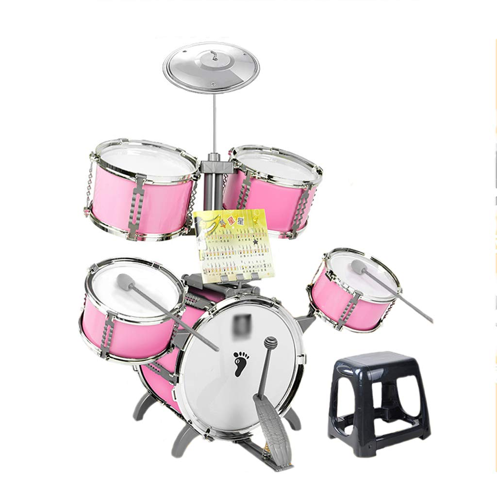 【在庫有】 DUWEN ドラムキット初心者楽器3-6歳少年少女大きなジャズドラム教育パズル子供のおもちゃ Pink (色 : : Pink) Pink) Pink B07L56RHTV, キタツルグン:b20c438f --- a0267596.xsph.ru