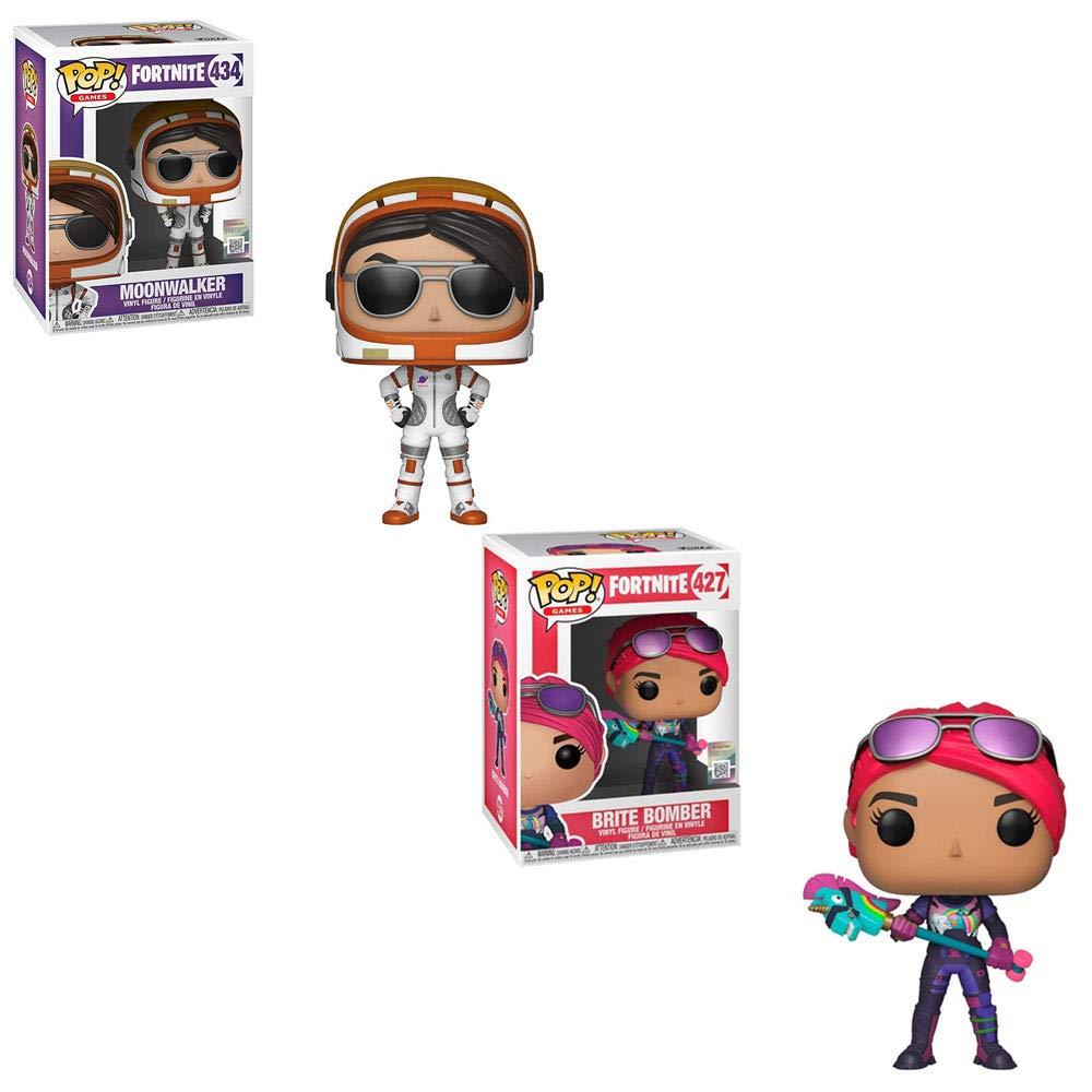 Funko POP! Games Fortnite: Moonwalker and Brite Bomber Toy Action Figures - 2 POP Bundle