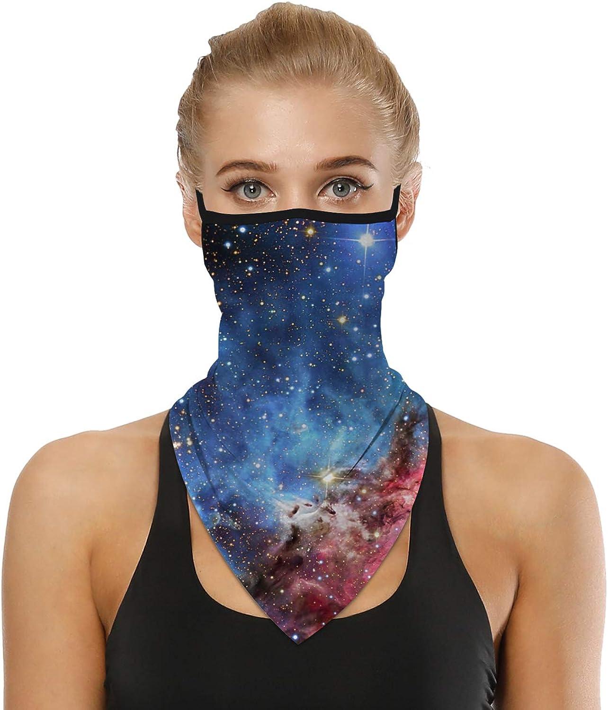 HONYAR Unisex Seamless Bandana Face Mask Tube Headwear Neck Gaiter with Elastic Cord for Women Men Cycling Walking Outdoor