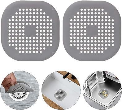 4Stück Abflusssieb Silikon,Dusche Abfluss Sieb Duschablauf Abdeckungen Weiß,Grau