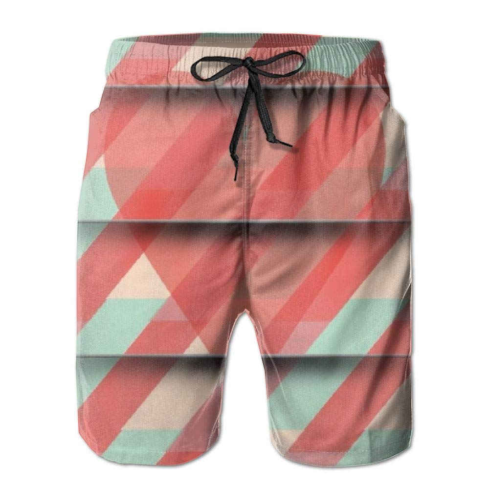 Love Streaks Mens Beach Board Shorts Quick Dry Summer Casual Swimming Soft Fabric with Pocket