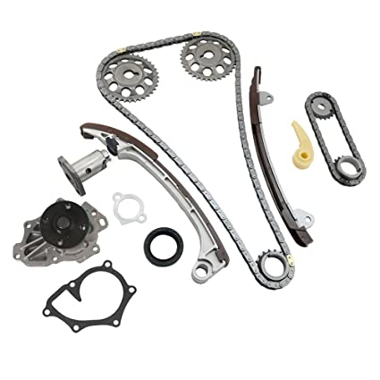 MOCA Timing Chain Kit & Water Pump for 2001-2009 Toyota Camry & Toyota  Corolla Matrix RAV4 Solara & 05-06 Scion TC 2 0L 2 4L L4 1AZFE 2AZFE