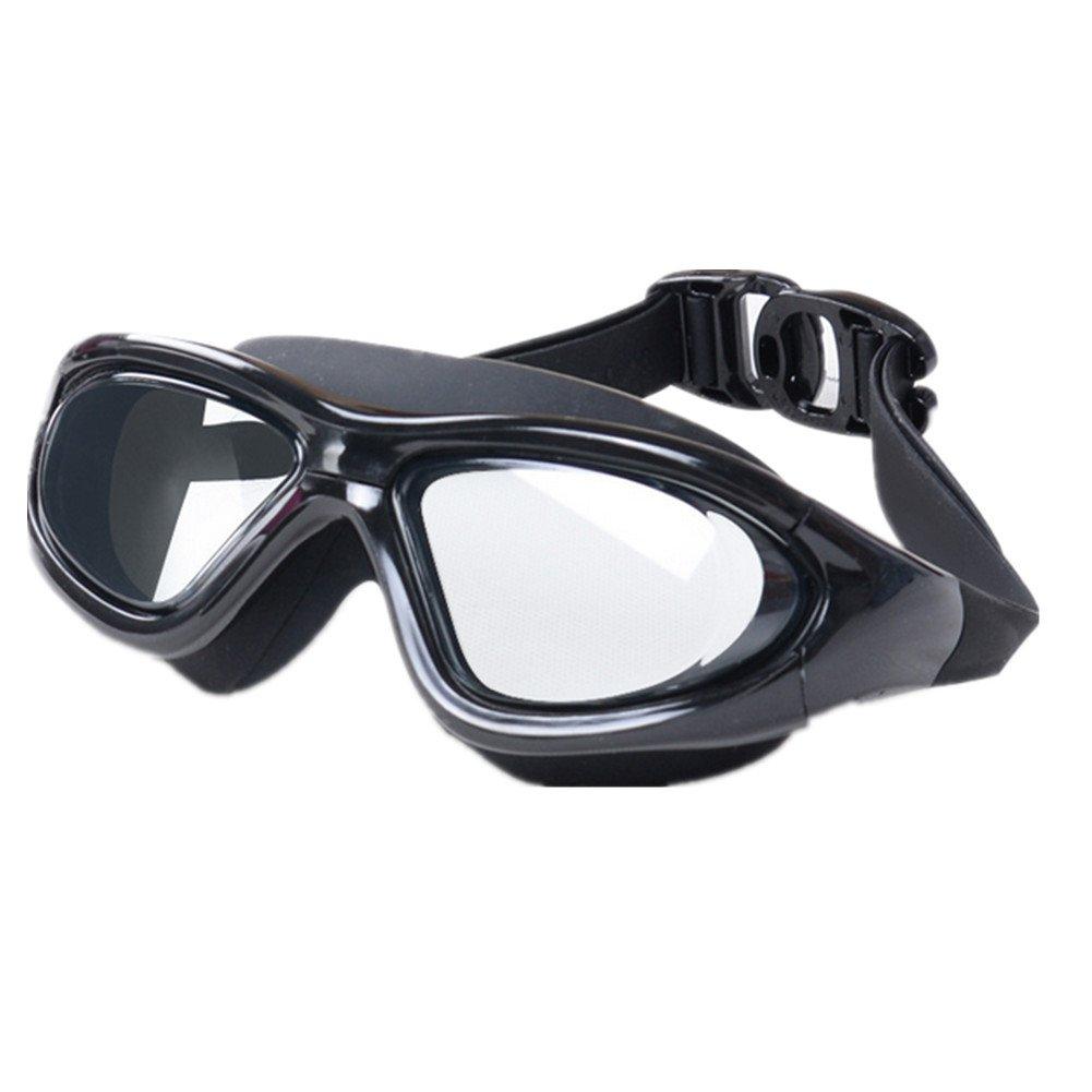 Ns Occhialini Da Nuoto/large Frame/uomini E Donne/generale/nebbia Impermeabile/regolabile/uv Nero