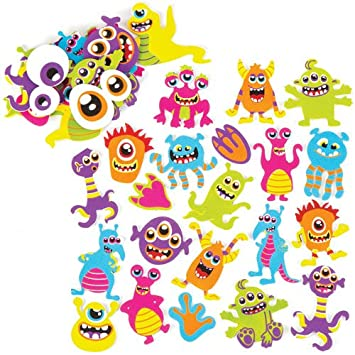 767ddb95731 Image Unavailable. Image not available for. Colour  Baker Ross Alien  Monsters Foam Stickers For Kids Perfect For Children s Arts ...
