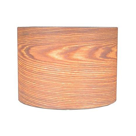 Woody - Chapa de madera (mimbre) de pantalla para lámpara de ...