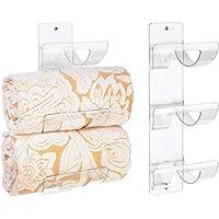 mDesign - Elegante handdoekenhouder in 2-delige set - handdoekenrek - bergruimte voor de badkamer/wandbevestiging…