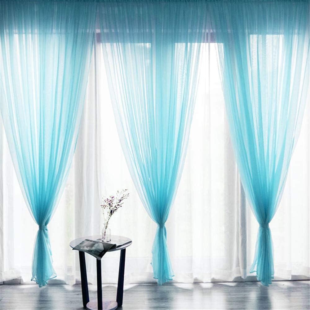 1 x 2 m Rouge LucaSng Rideaux en Voile translucide pour Chambre denfant