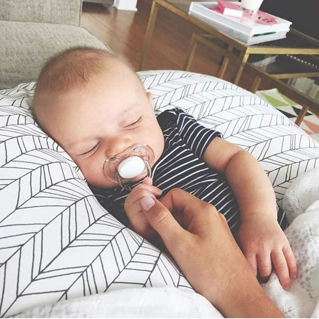 JOYKK Feeding Pillow Cover Nursing Maternity Naby Pregnancy Breasteeding Nursing Pillow Cover Slipcover Cover A# Black stripes