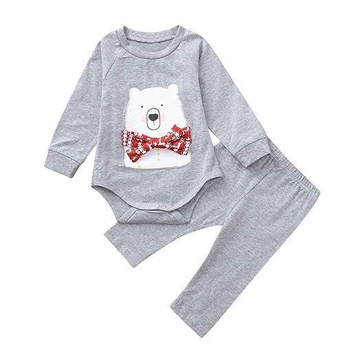 ee5cedbe2ca7 Amazon.com  kaiCran Baby Cotton Bodysuit Pajamas Outfits Sets Cute ...