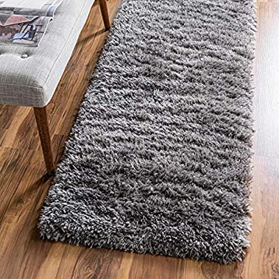 Infinity Collection Solid Shag Runner Rug by Rugs.com – Smoke 2' x 6' High-Pile Plush Shag Rug Perfect for Hallways, Living Rooms, Bedrooms and More - SOFT AND DURABLE CONSTRUCTION - Made with high quality polypropylene that is as durable as it is soft. Our rugs stand up abuse even in high-traffic areas. PERFECTLY SIZED - 5' x 8' Area rugs are the perfect size for Living Rooms, Bedrooms, Dining Rooms , or anywhere you want to bring a little more style into your home EASY TO CLEAN - Our rugs are waterproof, mold and mildew resistant, stain resistant, and shed proof. With regular vacuuming (no beater bar!), your rug will last for years to come. - runner-rugs, entryway-furniture-decor, entryway-laundry-room - 616VoU3MVGL. SS400  -