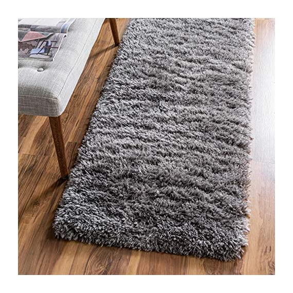 Infinity Collection Solid Shag Runner Rug by Rugs.com – Smoke 2' x 6' High-Pile Plush Shag Rug Perfect for Hallways, Living Rooms, Bedrooms and More - SOFT AND DURABLE CONSTRUCTION - Made with high quality polypropylene that is as durable as it is soft. Our rugs stand up abuse even in high-traffic areas. PERFECTLY SIZED - 5' x 8' Area rugs are the perfect size for Living Rooms, Bedrooms, Dining Rooms , or anywhere you want to bring a little more style into your home EASY TO CLEAN - Our rugs are waterproof, mold and mildew resistant, stain resistant, and shed proof. With regular vacuuming (no beater bar!), your rug will last for years to come. - runner-rugs, entryway-furniture-decor, entryway-laundry-room - 616VoU3MVGL. SS570  -