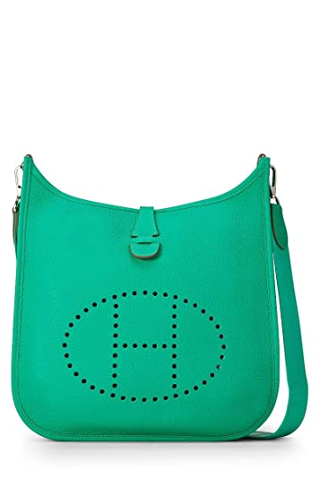 a48a4d2efc Image Unavailable. Image not available for. Color  Hermes Menthe Clemence  Evelyne III PM (Pre-Owned)