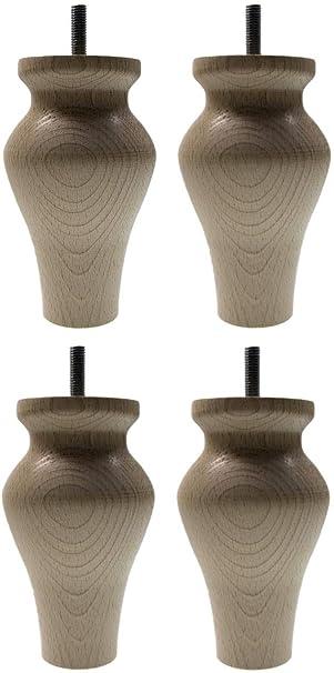 Höhe 150  Möbelfüße Möbelfuß Schrankfüß Sofafuß Holz Buche BUCHEN HOLZ