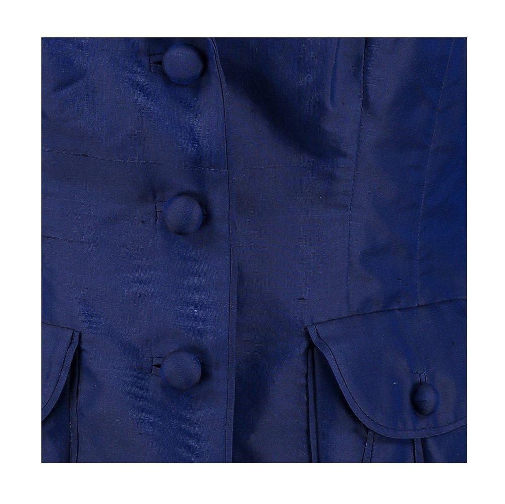 Luisa spagnoli blu scuro giacca crepe Blue 44  Amazon.it  Abbigliamento 71f33106923