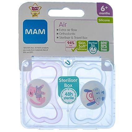 MAM Air: 2 x Chupetes 6m+ (Rosado Perras): Amazon.es: Bebé