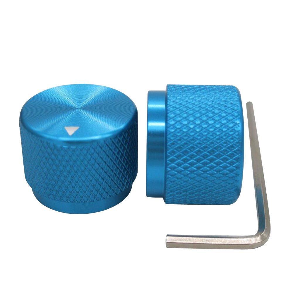 Volume Control Knobs Audio knob 20mm dia Taiss // 2pcs Blue Aluminum Rotary Electronic Control Potentiometer Knob For 6 mm Diameter Shaft x 15.5mm height Guitar Knobs,Switch Knob