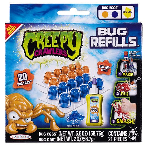 Creepy Crawlers Bug Refill - Blue and Orange Bug Eggs & Yellow Bug Goo