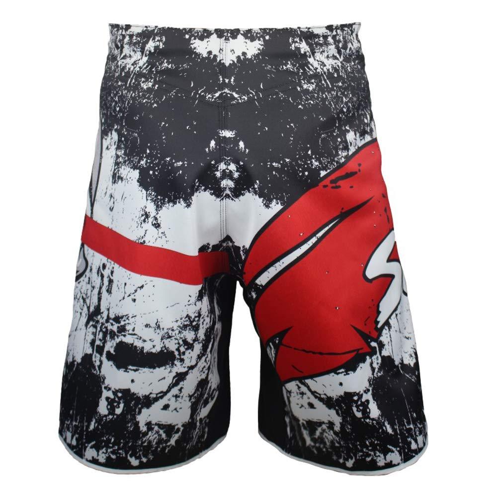 SUOTF MMA Black Boxing Cotton Loose Size Training Kickboxing Shorts Muay Thai Shorts MMA Shorts