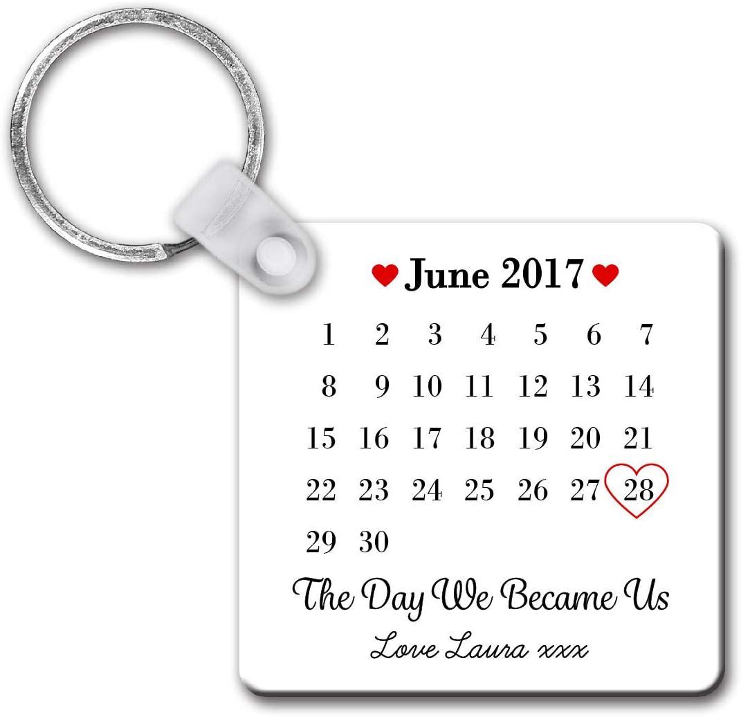 Personalised Sentimental Keepsake Day We Became Us Date Unisub Plastic Keyring