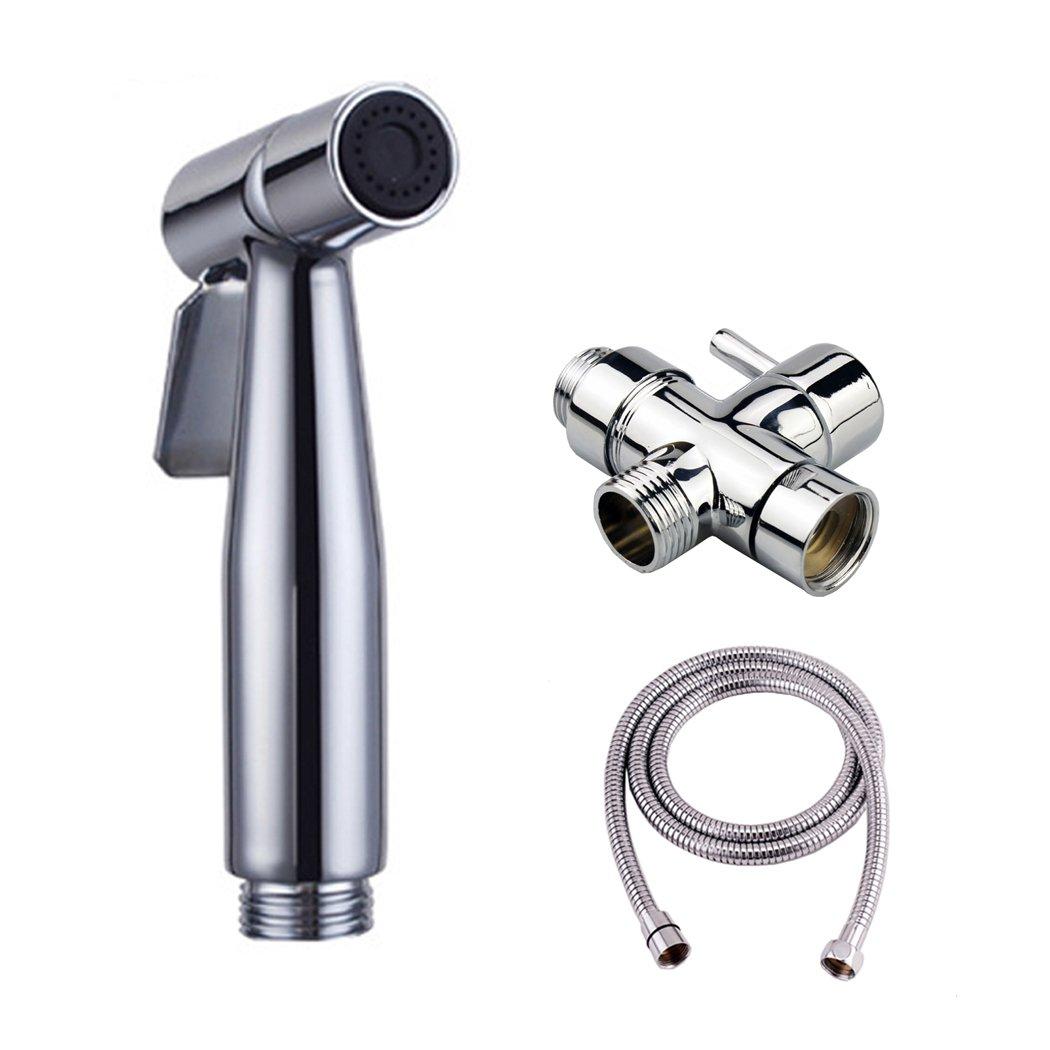 Phoewon - Kit per doccetta per bidet in acciaio inox, con valvola deviatrice in ottone, ER-HK-0049SET Eriva