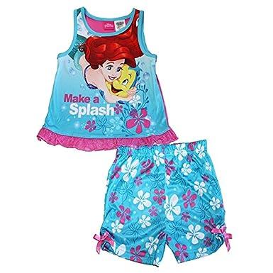 3bd7f84c9 Amazon.com  Little Mermaid and Flounder Girl s 4T Pajama Tank ...
