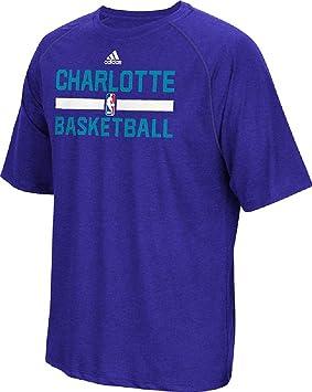 Adidas Charlotte Hornets Climalite la práctica de Manga Corta por, Color Morado, Púrpura (Purple Heather): Amazon.es: Deportes y aire libre