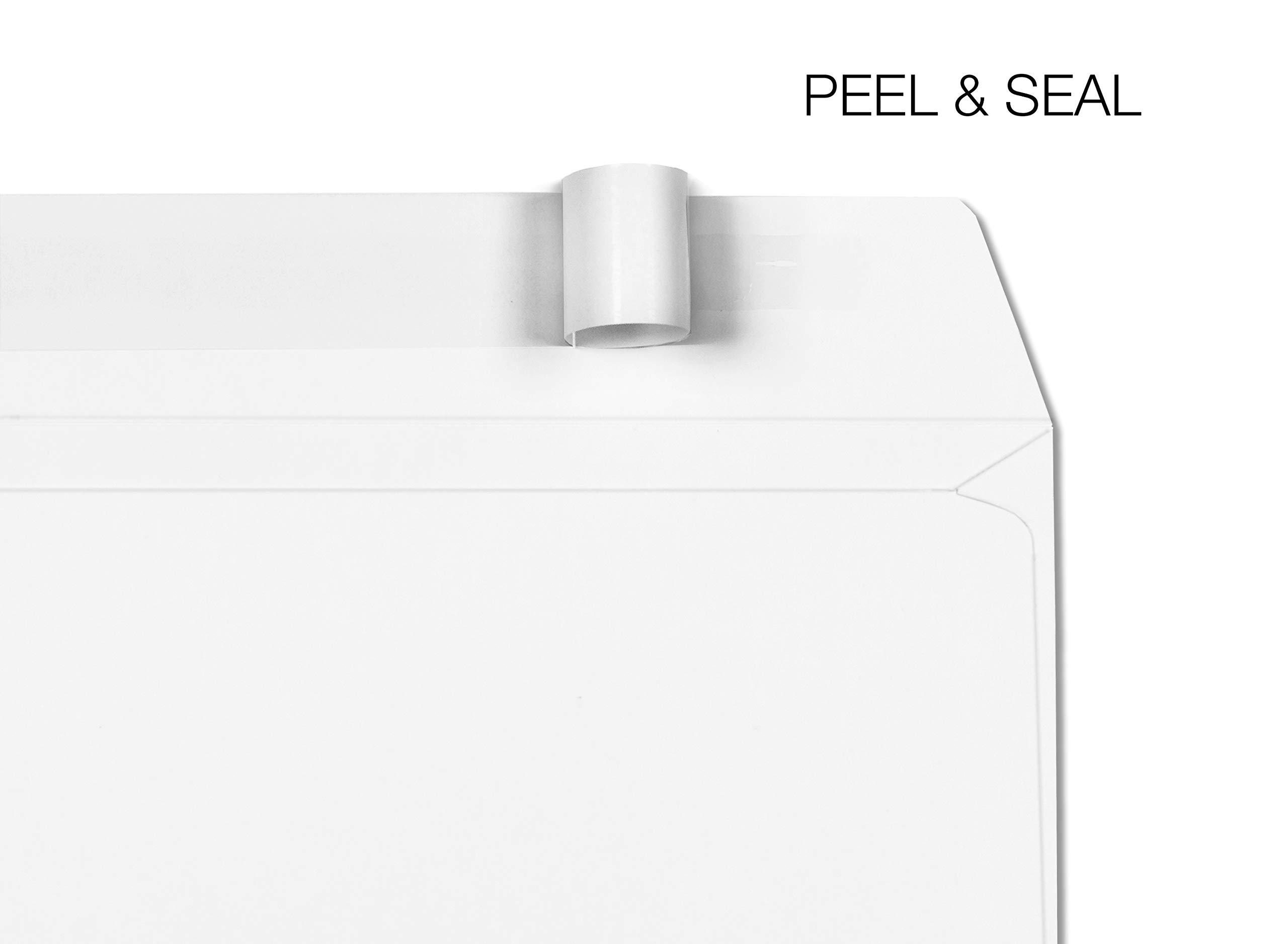 6 X 9 Booklet Envelopes Self Seal - Heavy-Duty 28 Pound White Envelopes 6x9 - Open Side Peel & Seal Envelopes (Pack of 50) - 6x9 Invitation Envelopes for Booklets, Letters, and Brochures