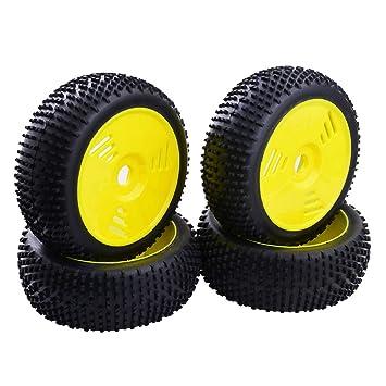 NON Sharplace 4 Piezas Llanta de Rueda y Neumáticos de Goma para 1  8 RC e93204a588e60